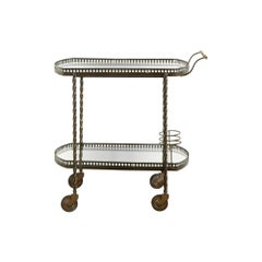 1950s French Brass Cocktail Trolley