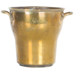1950s French Brass Wine Cooler