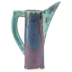 1950s French Ceramic Decorative Pitcher