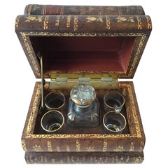 1950s French Cordial Set in a Book Box