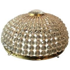 1950s French Crystal Beaded Shade
