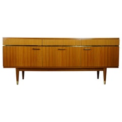 1950s French Design Wooden and Glossy Sideboard