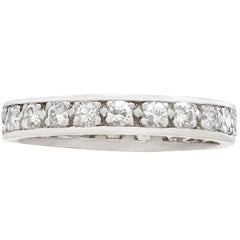 1950s French Diamond and Platinum Full Eternity Ring- Size 6 3/4