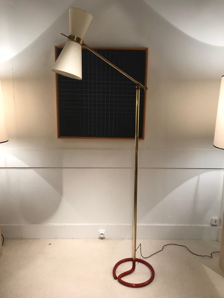 Mid-Century Modern 1950s French Floor Lamp For Sale