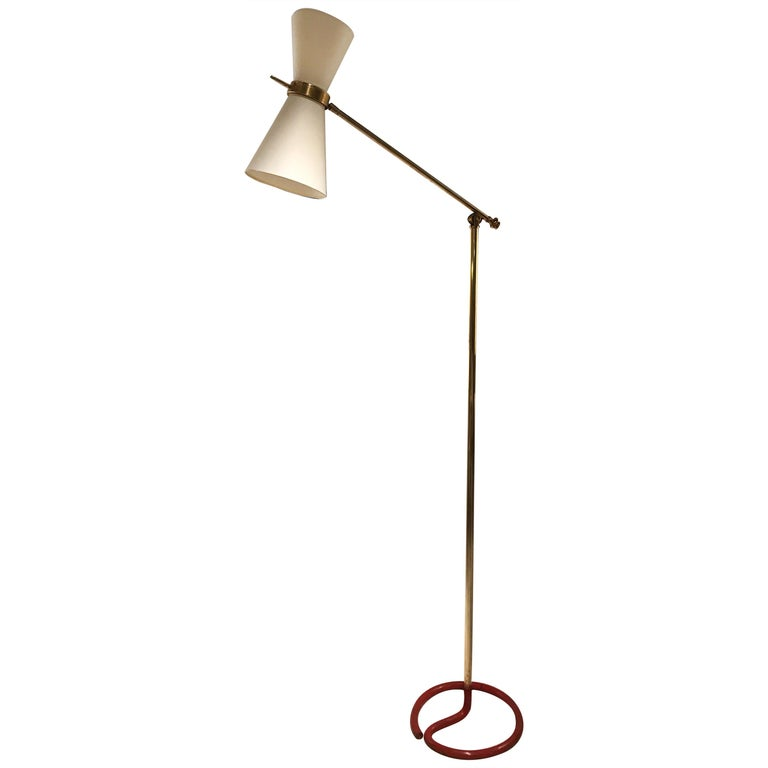 1950s French Floor Lamp For Sale