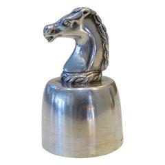 1950s French Hermès Champagne Silver Bottle Stopper