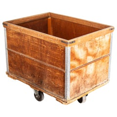 1950s French Industrial Box Trolley, Tricotage Marmoutier