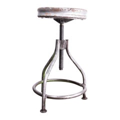 1950s French Industrial Swivelling Welders Stool