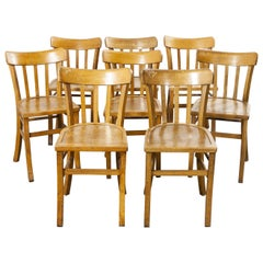 1950s French Made Luterma Bentwood Dining Chairs, Set of Eight 'Model 3'