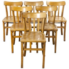 1950s French Made Luterma Bentwood Dining Chairs, Set of Six 'Model 3'
