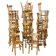1950s French Made Luterma Bentwood Dining Chairs, Set of Twenty Four 'Model 3'