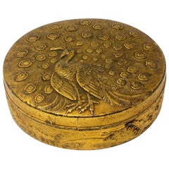 1950s French Metal Box with Engraved Pheasant