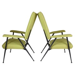 1950's, French Midcentury Armchairs, Set of Two