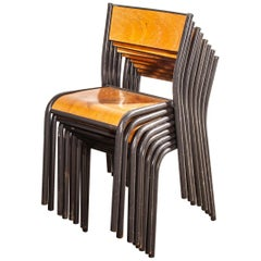 1950s French Mullca Dining Chair, Set of Eight