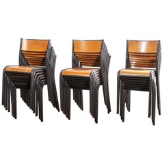 1950s French Mullca Dining Chair, Set Of Twenty-Four