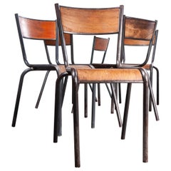 1950s French Mullca Dining Chairs, Set of Six