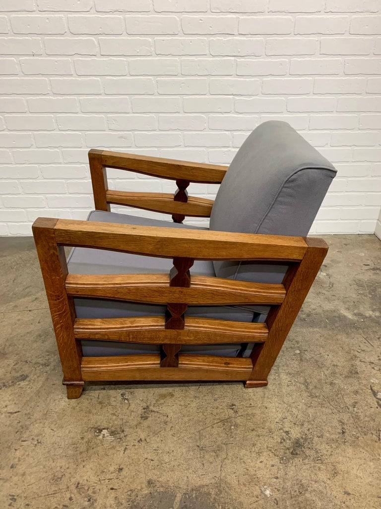 1950's French Oak Children's Lounge Chair For Sale 8