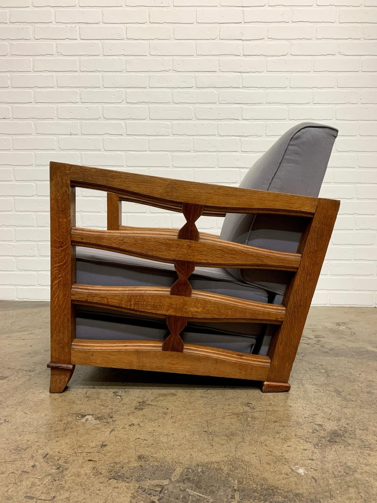 1950's French Oak Children's Lounge Chair For Sale 9