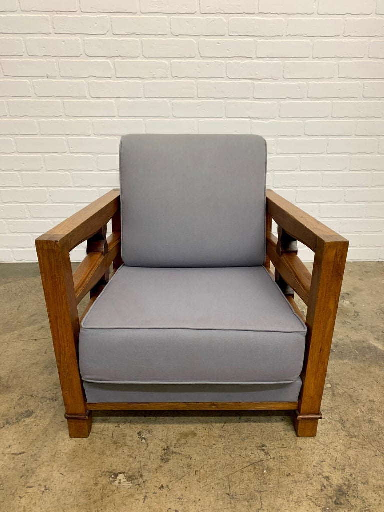 1950's French Oak Children's Lounge Chair For Sale 10
