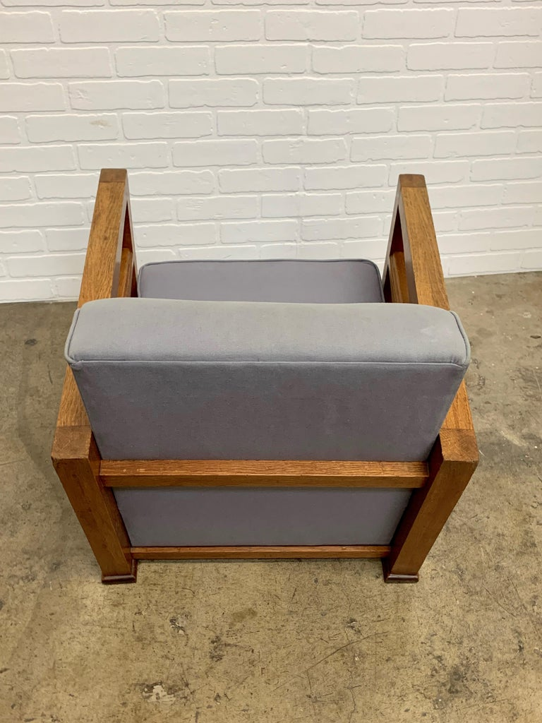1950's French Oak Children's Lounge Chair For Sale 1