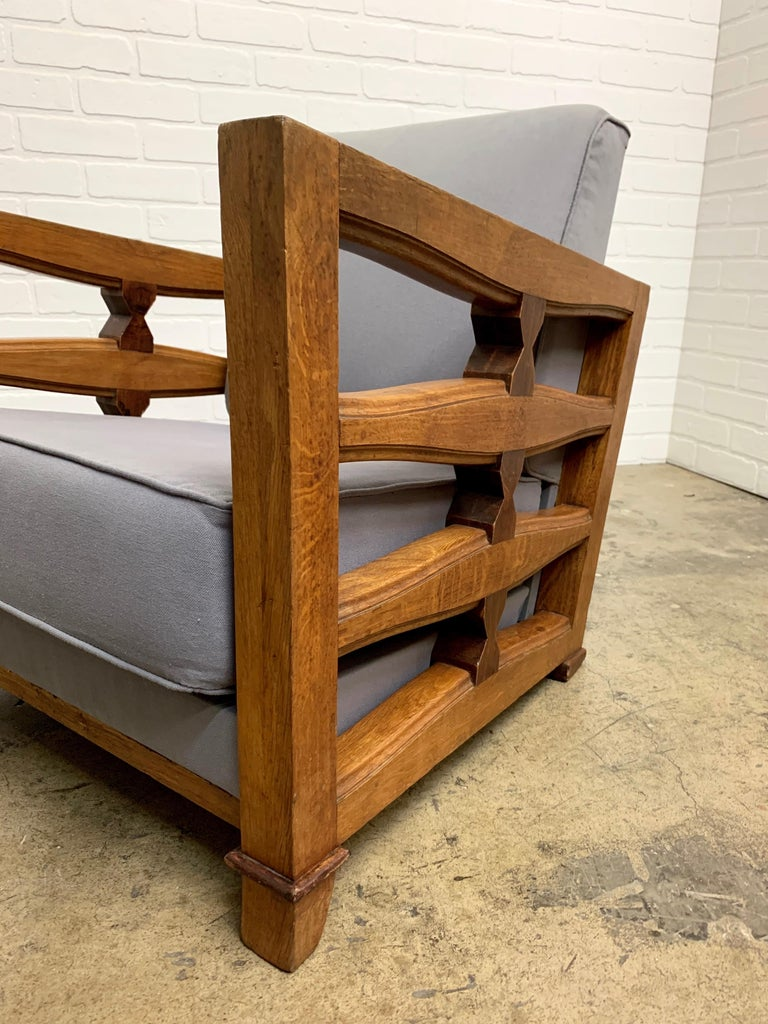 1950's French Oak Children's Lounge Chair For Sale 2