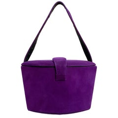 1950s French Perma-suede Purple Hand Bag