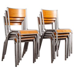 1950s French Silver Mullca Dining Chairs, Set of Eight, Other Quantities Ava