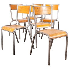 1950s French Silver Mullca Dining Chairs, Set of Six