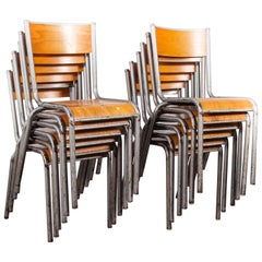 1950s French Silver Mullca Dining Chairs, Set of Twelve, Other Quantities Ava