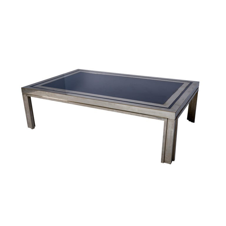 Enamel 1950s French Steel Coffee Table For Sale