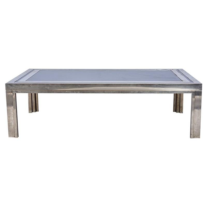 1950s French Steel Coffee Table