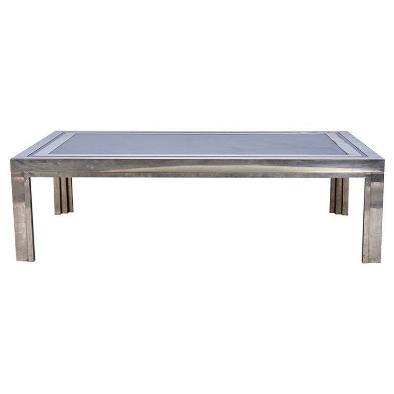 1950s French Steel Coffee Table For Sale