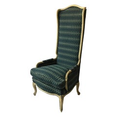 1950s French Style High Back Wing Chair