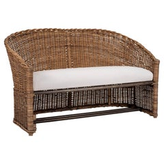 1950s French Wicker Sofa