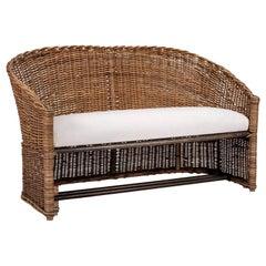 1950s French Wicker Sofa