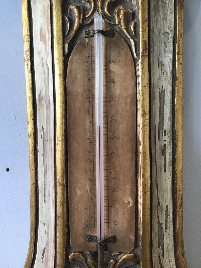 1950s French Wood Barometer For Sale 1