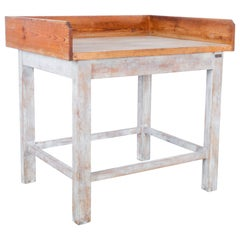 1950s French Wooden Baker's Table