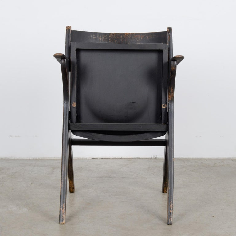 Mid-Century Modern 1950s French Wooden Folding Chair