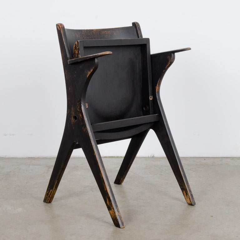 Mid-20th Century 1950s French Wooden Folding Chair