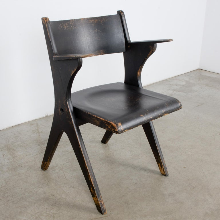 1950s French Wooden Folding Chair 2