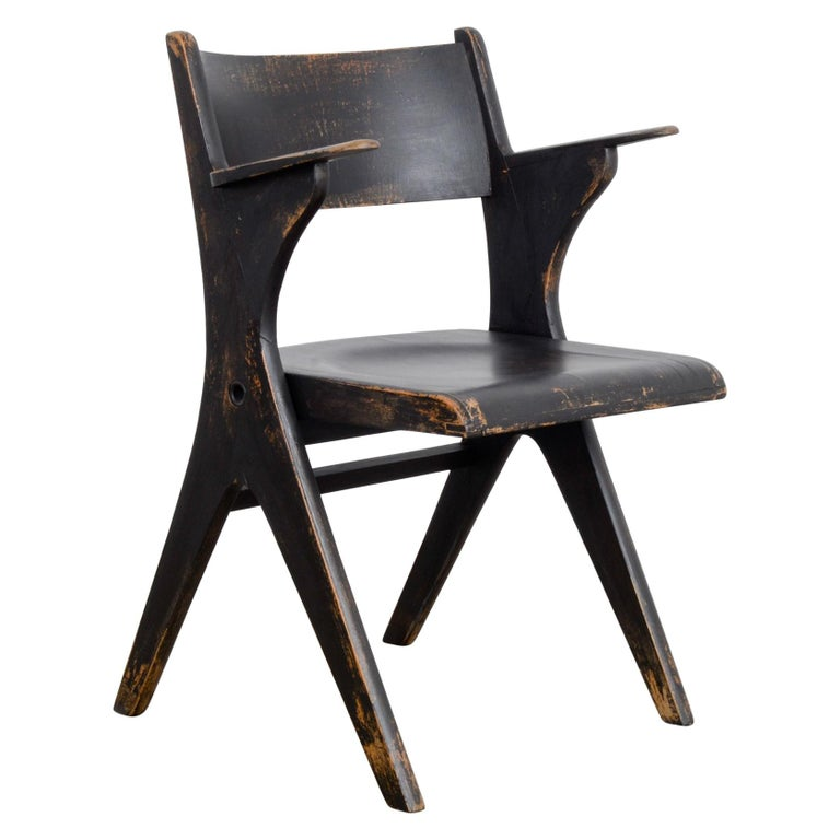 1950s French Wooden Folding Chair