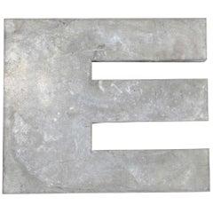 1950s French Zinc Letters, Letter Zinc E