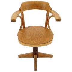 1950s Fritz Hansen Swivel Adjustable Armchair, Denmark