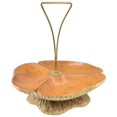 1950s Fruit Tray by Aldo Turas for Macabo Cusano Milanino