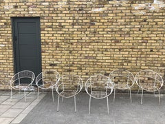 1950's Garden chairs/Six stackable French Garden chairs.