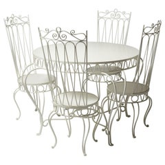 1950s Garden Furniture Including a Table and Four Chairs