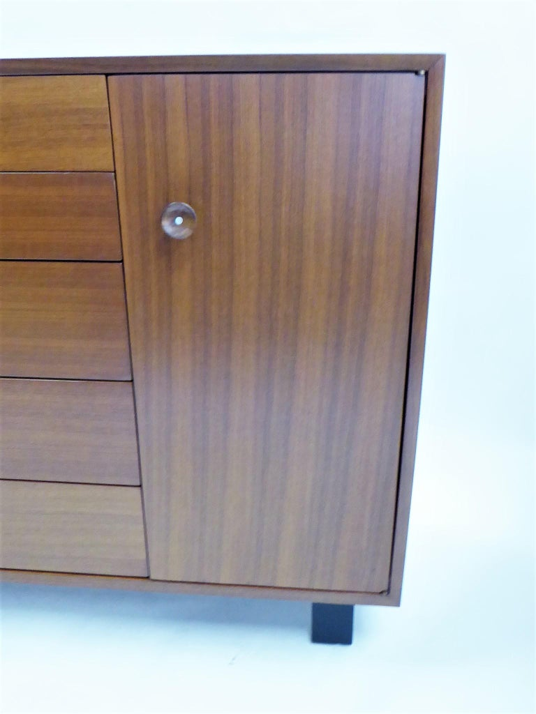 Walnut 1950s George Nelson Dresser Credenza for the Herman Miller Collection For Sale