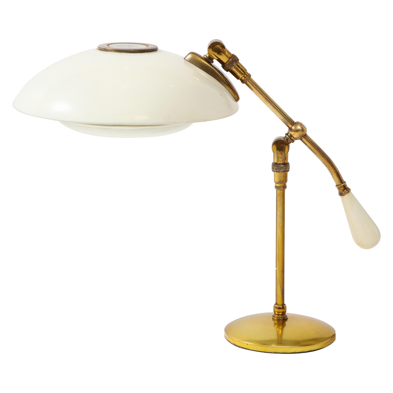 1950s Gerald Thurston for Lightolier Brass Desk Lamp