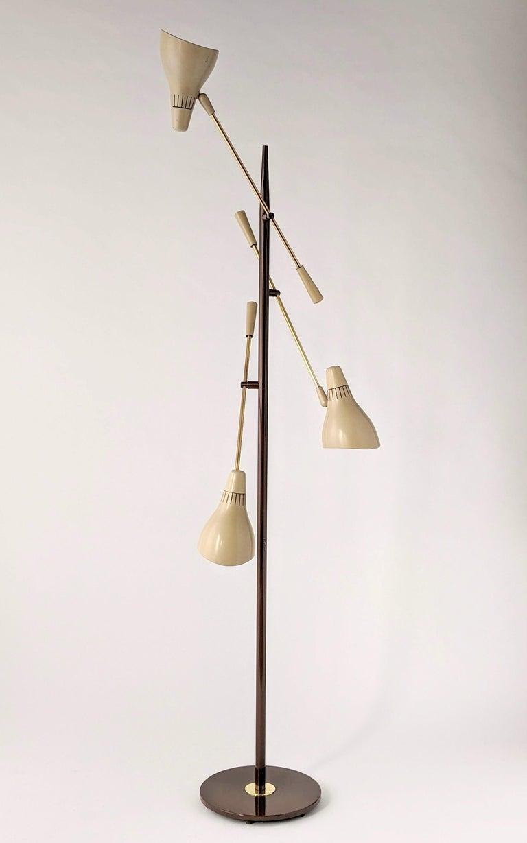 American 1950s Gerald Thurston Triennale Floor Lamp for Lightolier, USA For Sale