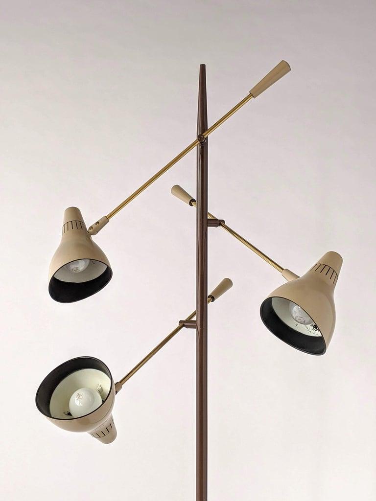 Enameled 1950s Gerald Thurston Triennale Floor Lamp for Lightolier, USA For Sale
